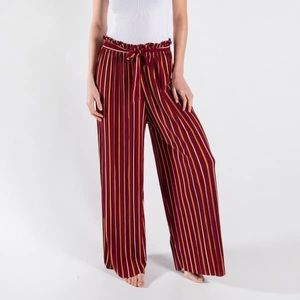 Long palazzo pants with stripes